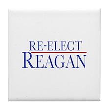 Re-Elect Reagan Tile Coaster