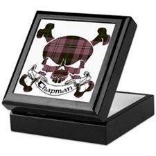 Chapman Tartan Skull Keepsake Box