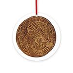 Pre-Columbian Ancient Art Ornament (Round)