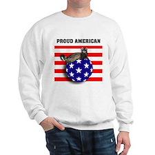 American Flag Ferret Stars & Stripes Sweatshirt