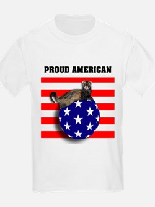 American Flag Ferret Stars & Stripes T-Shirt