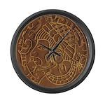 Pre-Columbian Ancient Art Large Wall Clock
