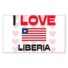 I Love Liberia Rectangle Decal