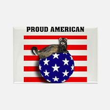 American Flag Ferret Stars & Stripes Rectangle Mag