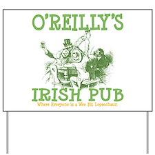 O'Reilly's Irish Pub Personalized Yard Sign