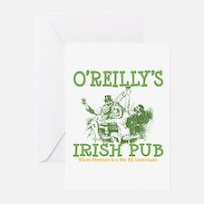O'Reilly's Irish Pub Personalized Greeting Cards (