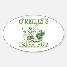 O'Reilly's Irish Pub Personalized Oval Decal