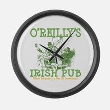 O'Reilly's Irish Pub Personalized Large Wall Clock