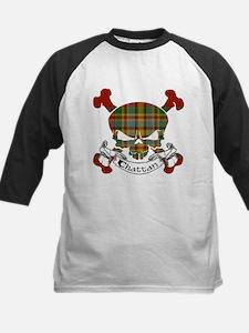 Chattan Tartan Skull Kids Baseball Jersey