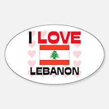 I Love Lebanon Oval Decal