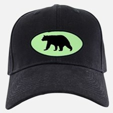 Black Bear Cap with green background