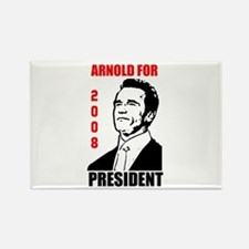 Arnold For President Rectangle Magnet