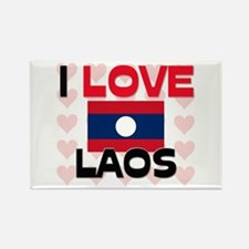 I Love Laos Rectangle Magnet
