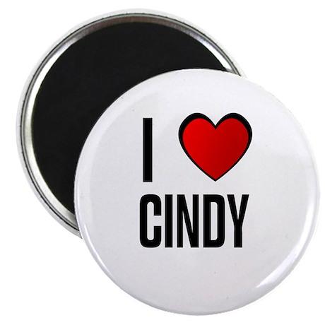 """I LOVE CINDY 2.25"""" Magnet (10 pack)"""