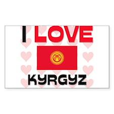 I Love Kyrgyz Rectangle Decal