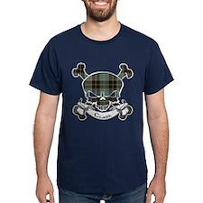 Clark Tartan Skull T-Shirt