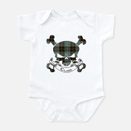Clark Tartan Skull Infant Bodysuit