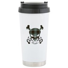 Clark Tartan Skull Travel Coffee Mug