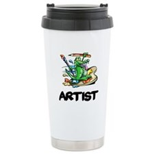 Artist Dragon on Palette Travel Mug