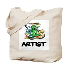Artist Dragon on Palette Tote Bag