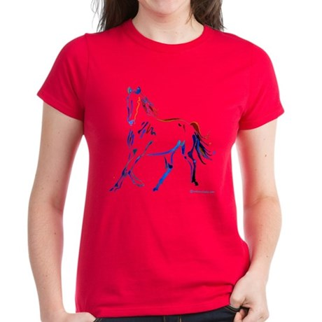 Horse of Many Colors Women's Dark T-Shirt