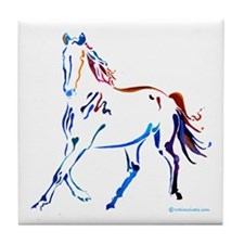 Horse of Many Colors Tile Coaster