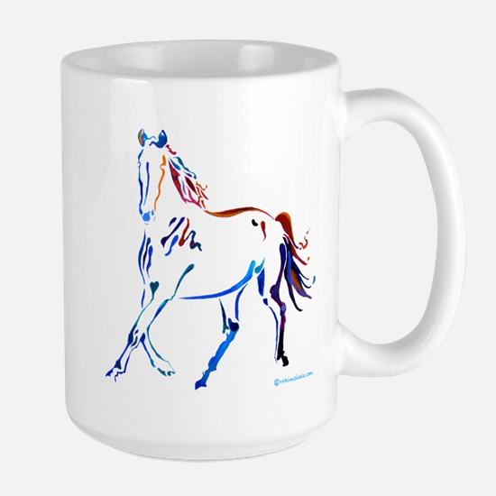 Horse of Many Colors Large Mug