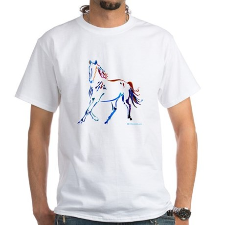 Horse of Many Colors White T-Shirt