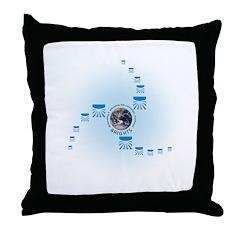 Spiral World Throw Pillow