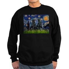 Starry / Two Flat Coated Ret Sweatshirt