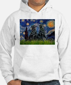 Starry / Two Flat Coated Ret Hoodie