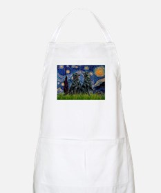 Starry / Two Flat Coated Ret Apron