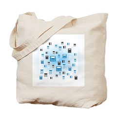 Random Logo Tote Bag