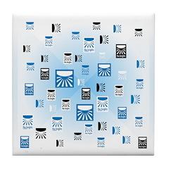 Random Logo Tile Coaster