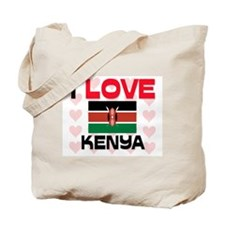 I Love Kenya Tote Bag
