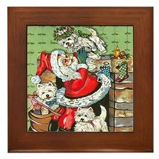 Santa's Little Helpers Framed Tile