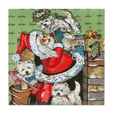 Santa's Little Helpers Tile Coaster