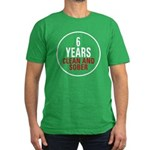 6 Years Clean & Sober Men's Fitted T-Shirt (dark)