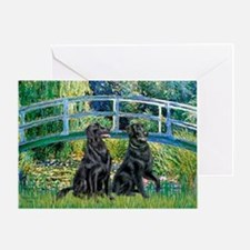 Flat Coated Retriever (two) Greeting Card