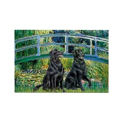 Flat Coated Retriever (two) Rectangle Magnet