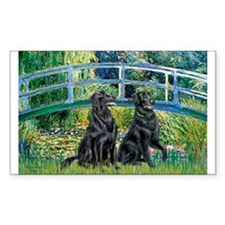 Flat Coated Retriever (two) Decal