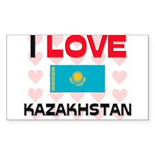 I Love Kazakhstan Rectangle Decal
