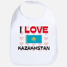 I Love Kazakhstan Bib