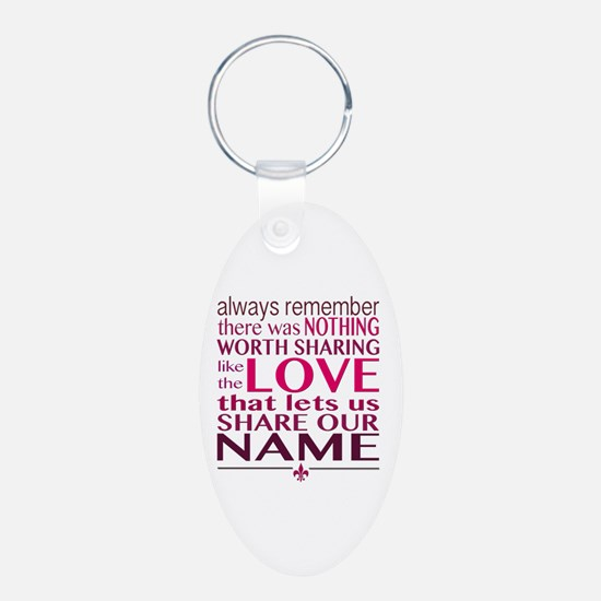 Cute Brother Aluminum Oval Keychain
