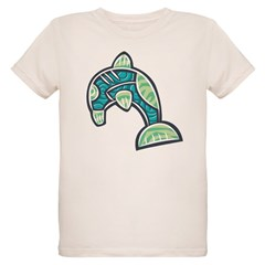 Cool Abstract Dolphin Design T-Shirt