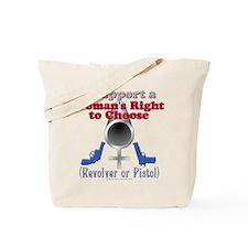 Woman's Choice pro-gun Tote Bag