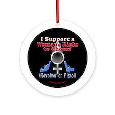 Woman's Choice pro-gun Ornament (Round)