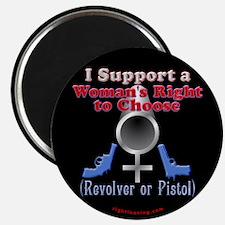 "Woman's Choice pro-gun 2.25"" Magnet (10 pack)"