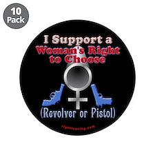 "Woman's Choice pro-gun 3.5"" Button (10 pack)"