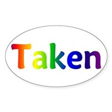 """Taken"" Oval Decal"